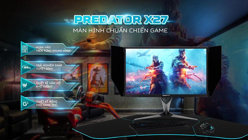 Màn hình Predator X27: Đẳng cấp dành riêng cho dân chuyên