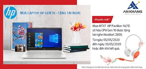 MUA LAPTOP HP GEN 10 – TẶNG TAI NGHE HEADSET H2800