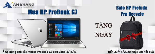 Mua laptop HP Probook G7 Intel tặng ngay balo HP Prelude Pro Recycle cực sang chảnh