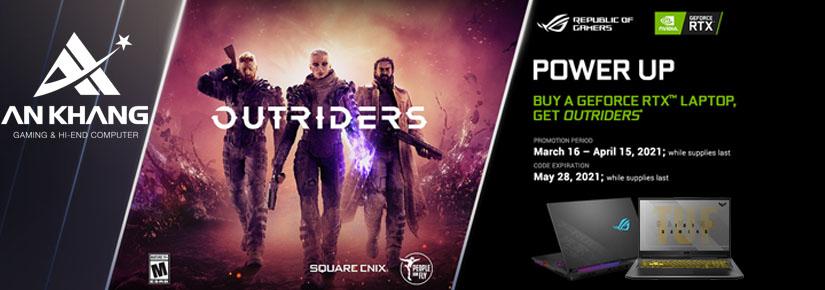 Tặng ngay code game Outriders trị giá 1.390.000VND khi mua laptop Asus Gaming RTX