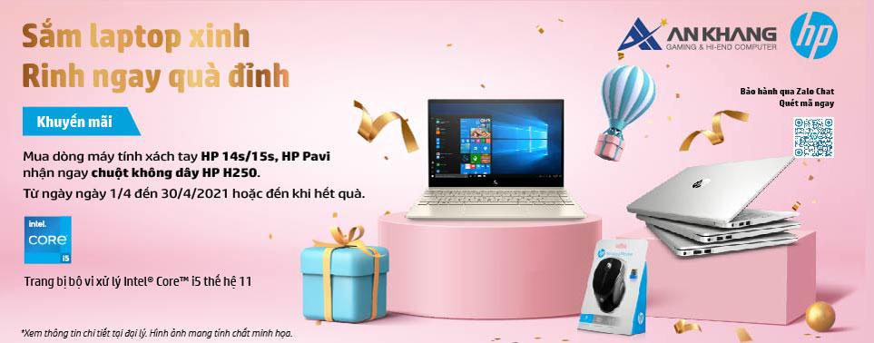 Nhận ngay chuột H250 khi mua laptop HP 14s, 15s, HP Pavi