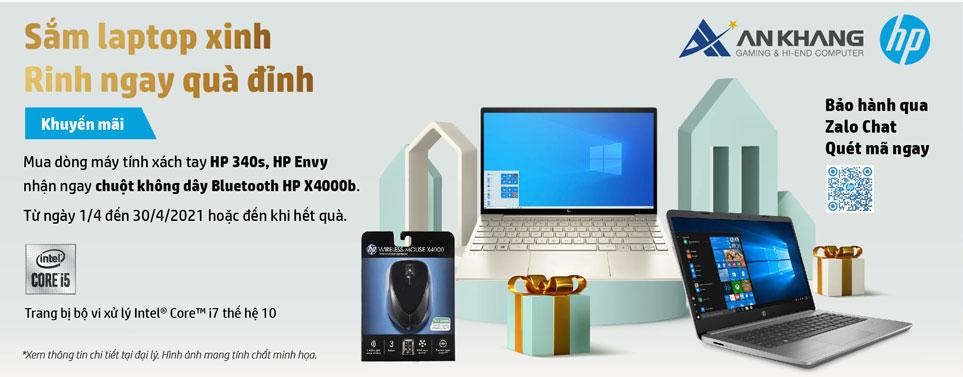 Nhận ngay chuột X4000b khi mua laptop HP 340s, HP Envy