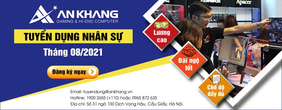 An Khang Computer tuyển dụng nhân sự tháng 08/2021