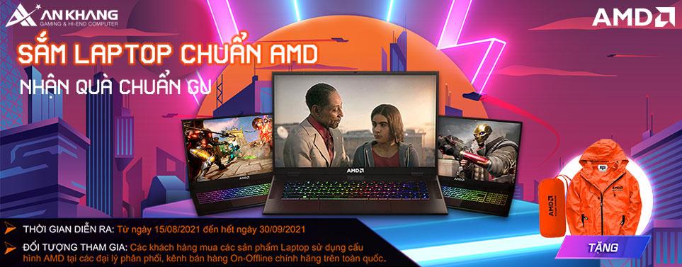 CTKM: Sắm laptop chuẩn AMD - Nhận quà chuẩn gu