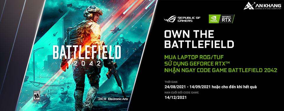 CTKM: Mua laptop ROG/TUF sử dụng GeForce RTX nhận ngay code game Battlefield 2042