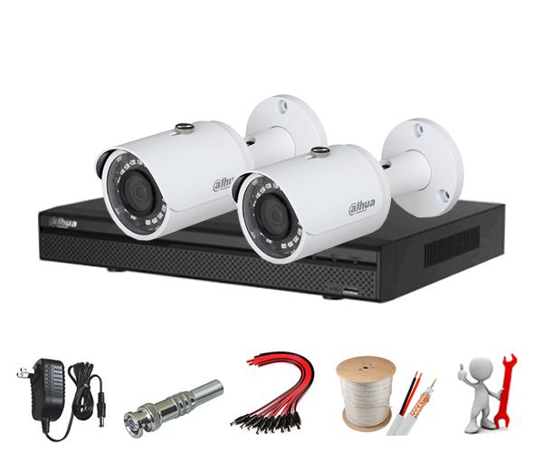 Trọn bộ 2 mắt camera 1.0MP Dahua HAC-HFW1000SP