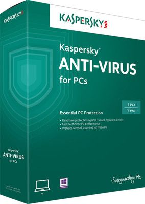 Kaspersky Antivirus  3 PC 1 year