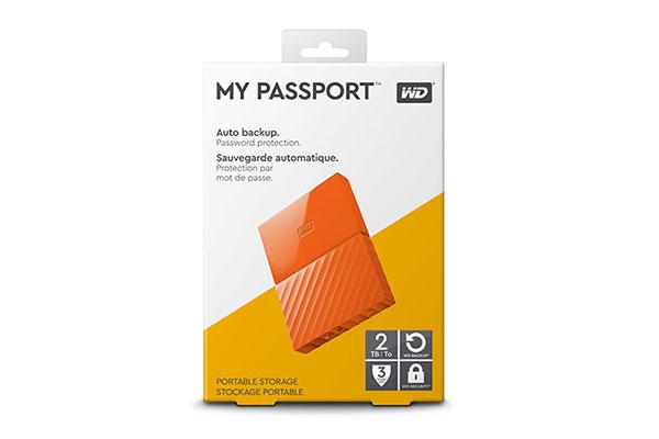 Ổ cứng di động WD My Passport 2TB (WDBS4B0020BOR-WESN)