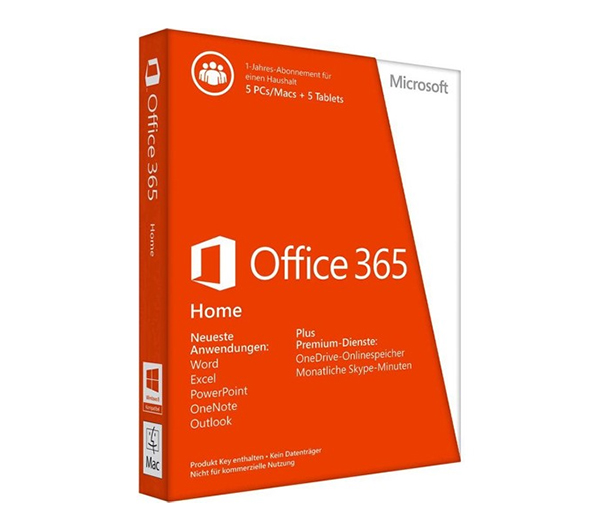 Microsoft Office 365 Home 32 bitx64 English Subscr 1YR APAC EM Medialess