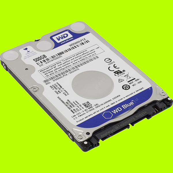 Ổ cứng Laptop HDD WD 500Gb Blue 2.5 SATA 3- WD5000LPCX