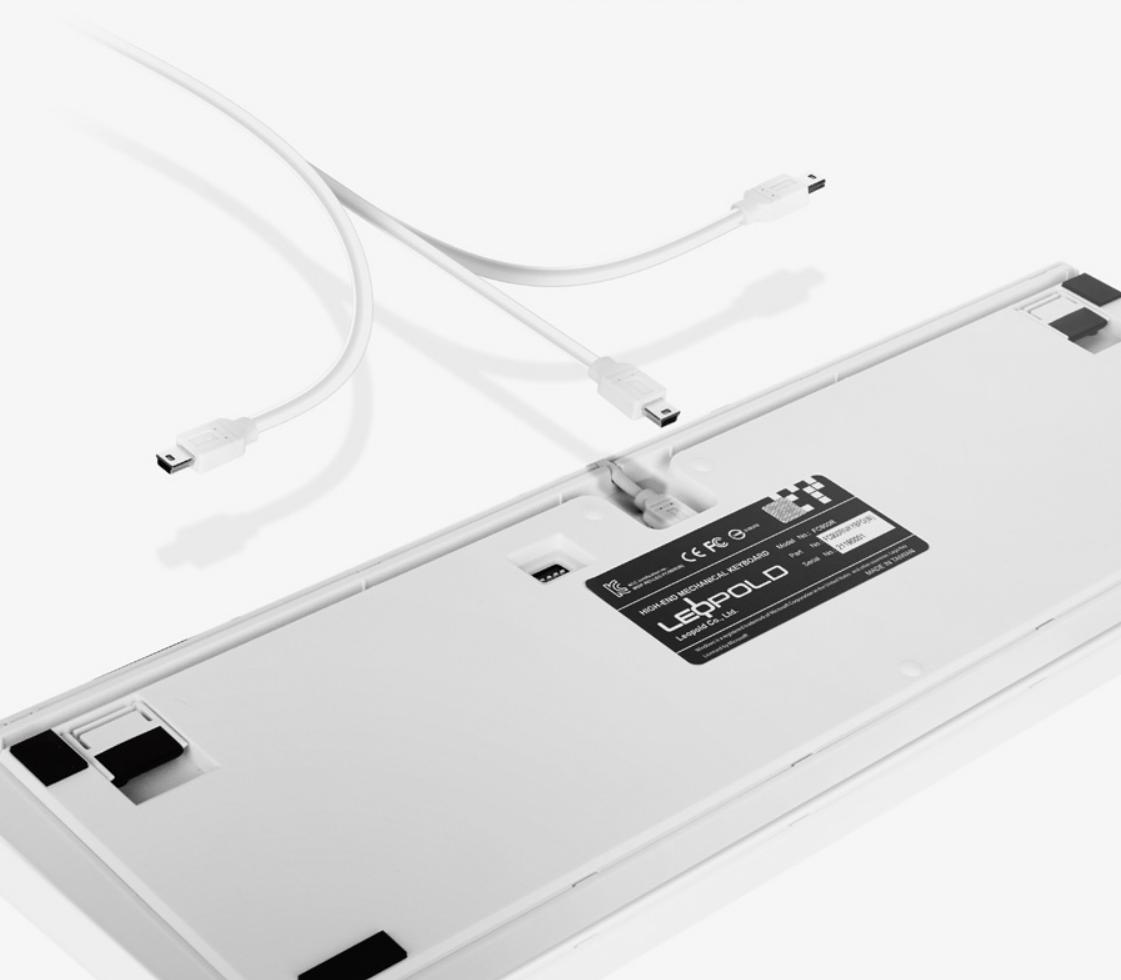 Bàn Phím cơ Leopold FC750R PD Sweden White Case Brown Switch