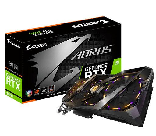 VGA Gigabyte Aorus GeForce RTX 2080 8GB GDDR6 (GV-N2080AORUS-8GC)