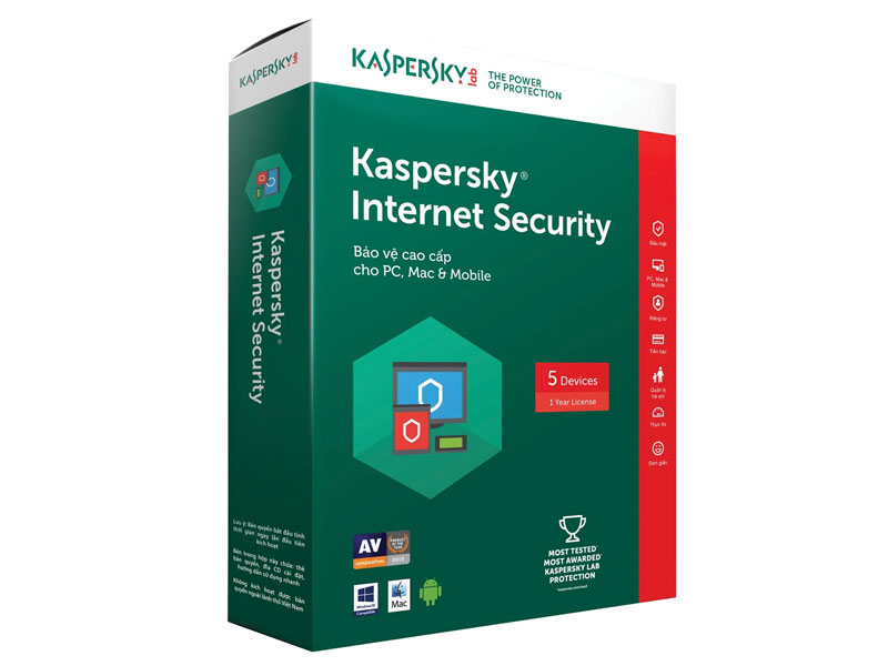 Phần mềm diệt virus Kaspersky Internet Security MD 1PC (KL1941MUFS)