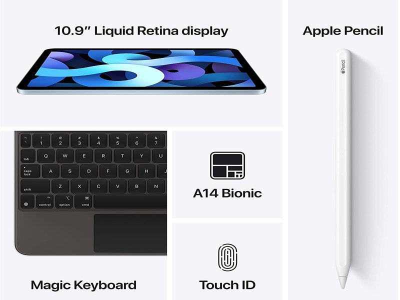 Máy tính bảng iPad Air Wi-Fi + Cellular 256GB MYH42ZA/A Silver