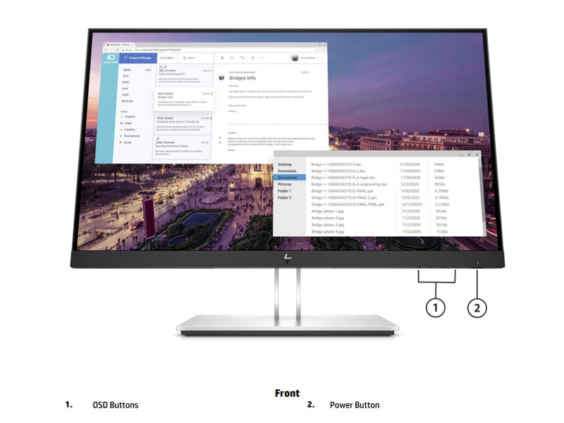 Màn hình HP E23 23 inch G4 FHD Monitor 9VF96AA