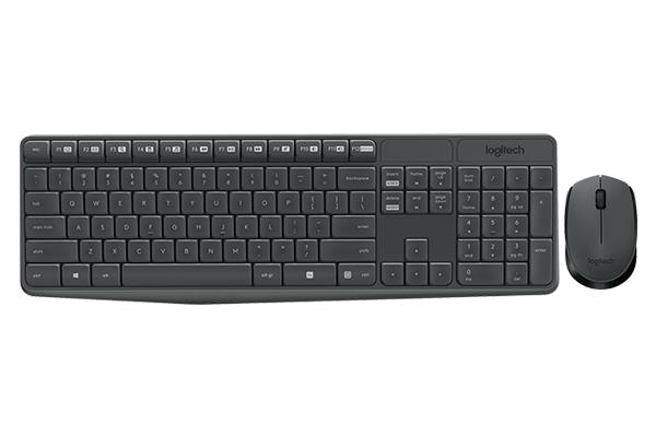 Bộ bàn phím - Chuột Logitech MK235 - Màu đen